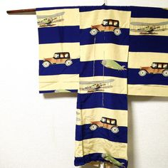 Vintage Japanese Rare Boy's Kimono/ Car & Plane/ Collective/ Kawaii/ 1910s by JapaneseBOROshop on Etsy
