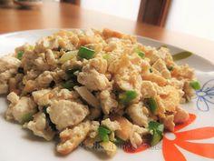 Recettes d'une Chinoise: Jipao doufu, tofu sauté aux ciboules 鸡刨豆腐