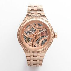 Forget about all the other watches... This one wins. Rose gold skeleton watch