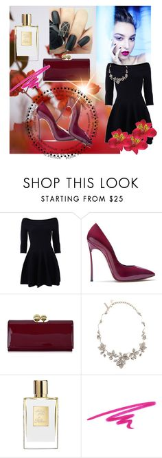 """""""Summer"""" by nermina-hasic ❤ liked on Polyvore featuring GUINEVERE, Jonathan Simkhai, Casadei, Ted Baker, Oscar de la Renta and NARS Cosmetics"""