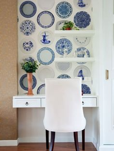 Create a feature alcove with wallpaper - plate wallpaper