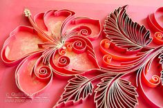 Original Paper Quilling Wall Art  The Scarlet Flower.