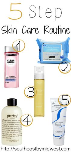 5 Step Skin Care Routine on southeastbymidwest.com