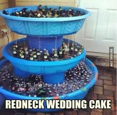 Beer Fountain.  Awesome outdoor party or BBQ idea!  You don't have to freeze your hands to find what you want either.  You could also paint the pools to match the theme of the party.  Orange for Halloween, Red White & Blue for 4th of July etc.