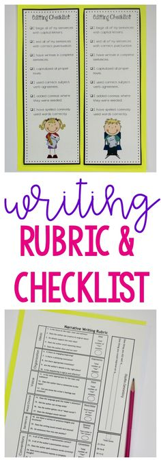 Writing workshop rubrics and checklists!