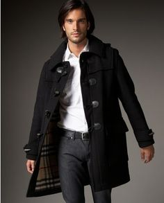 The Burberry Duffle Coat. These were the rage back in the late sixties. Everyone had one. In the summer we wore London Fog Golf Jackets.