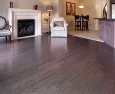 Red Oak Slate manufactured by Muskoka Hardwood Flooring  #hardwood #hardwoodflooring #redoak