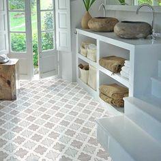 Margot in Slate Floor Sticker Tile Decals, Vinyl Tiles, Vinyl Flooring, Taupe Bathroom, Bathroom Interior, Floor Stickers, Floor Trim, Dishwasher Detergent, Stickers