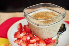 Quinoa Pudding ~ dariy-free treat featuring superfoods quinoa and coconut milk; tastes like a cross between rice pudding and tapioca | {Five Heart Home}