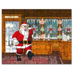 Gatterwe: Sweet Shop Puzzle: Santa Claus making a shopping tour in a candy store Candy Store, Puzzles, Santa, Tours, Sweet, How To Make, Painting, Shopping, Puzzle