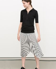 PLEATED STRIPED SKIRT from Zara
