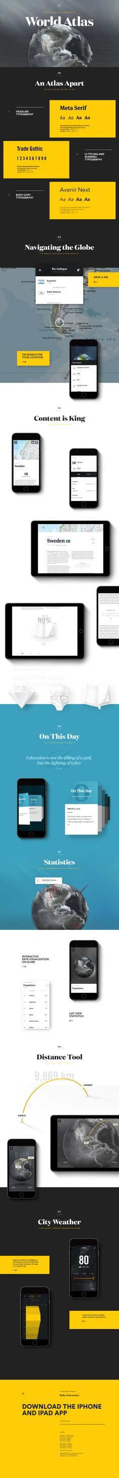 App typography - National Geographic - World Atlas case study - Stunning work