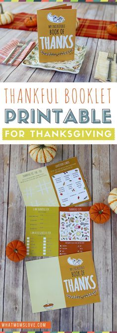 Free Printable Thanksgiving Gratitude Book for Kids | Fun craft and activity to teach thankfulness | Thanksgiving kids table ideas