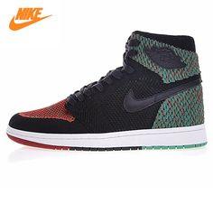 80b7c05d616f Nike Air Jordan 1 Retro High Flyknit BHM Men Basketball Shoes