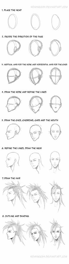 Anatomy Drawing Tutorial a quick tuto. well this is just my way to draw hope you find it useful (?aka random guy (c) _________________________________ tools: Wacom L and Photoshop CS >> Drawing Heads, Drawing Poses, Drawing Tips, Drawing Reference, Drawing Sketches, Pencil Drawings, Art Drawings, Sketching, Face Sketch