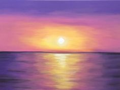 Sunset acrylic painting canvas painting wall decor abstract sunset home decor orange and yellow Sunset Painting Easy, Sunrise Painting, Sunset Paintings, Simple Acrylic Paintings, Acrylic Painting Canvas, Dolphin Painting, Purple Sunset, Sunset Canvas, Canvas Wall Decor