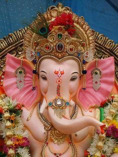 Chandra is described as young and beautiful, two-armed and carrying a club Jai Ganesh, Ganesh Lord, Ganesh Idol, Shree Ganesh, Ganesha Art, Lord Shiva, Shri Ganesh Images, Ganesh Chaturthi Images, Ganesha Pictures