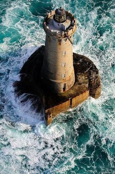 ARIEL VIEW ENGLISH LIGHTHOUSE