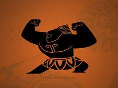 Moana Maui vinyl decal - Disney Hawaiian Warrior - wall decal - car decal - macbook decal- laptop sticker - made in USA - PopDecalsLab