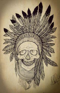 skull with plume server