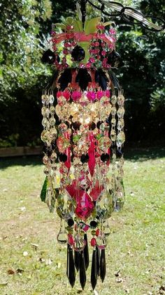 Lámpara lámpara de cristal Petite de gitana por sheriscrystals