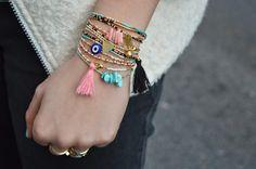 The Camelia: DIY - Bracelets fins en perles de rocailles