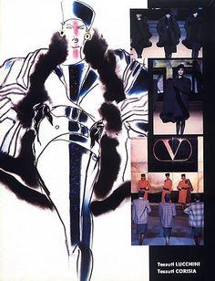 Valentino 1984 Fashion Illustrations Tony Viramontes   Hprints.com