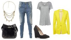 daily look - yellow blazer