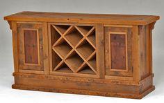 Barnwood Sideboard with Wine Rack