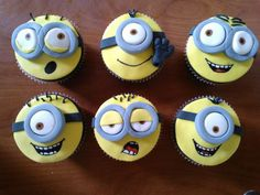 Funny Despicable Me #cupcakes #partyideas #food