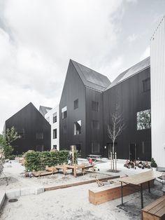 Estudio COBE diseña edificios continuos y simples para guardería en Dinamarca.
