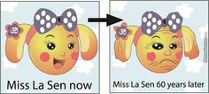 Young and old Miss La Sen