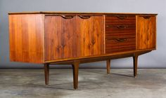 Los Angeles: Vintage Danish Modern Teak Credenza / Long Sideboard / Cabinet $1295 - http://furnishlyst.com/listings/321657