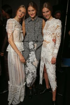 Backstage at Erdem RTW Spring 2015 [Photo by Giovanni Giannoni]