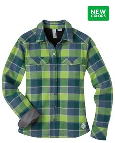 Women's Buckhorn Bonded Flannel Shirt - An insulated, modern take on the classic flannel. 100% cotton bonded flannel with a polyester microfleece backer insulates.