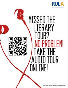 QR codes in the library