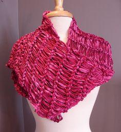 Precious Pink Shiny ribbon multitextural por RockPaperScissorsEtc