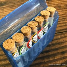 Tulip Needle Storage and Organization Tip q-tip travel box holds 7 tubes of tulip needles Embroidery Needles, Beaded Embroidery, Sewing Nook, Blackbird Designs, Christmas Design, Needle And Thread, Organization Hacks, Tulips, Tube
