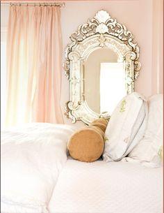 stunning pink white bedroom