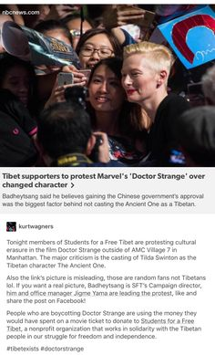 Tibet Supporters Protest Marvel's 'Doctor Strange' over Changed Character