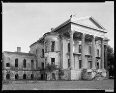 Belle Grove, front, White Castle vic., Iberville Parish, Louisiana. Building/structure dates: 1857.