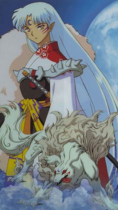 Sesshomaru in his true form and human like form