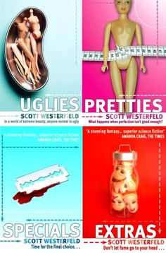 """These are the covers of Scott Westerfields """"Uglies"""" series. They're the UK covers. SO different from our covers. Anyway. I love this series."""