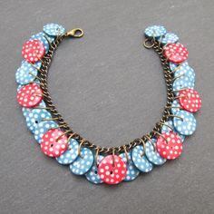 Dotty Daze button bracelet - Folksy