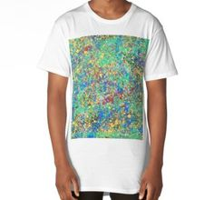 Long T-Shirt Edge Of The Universe, Stained Glass, Size Chart, Chiffon Tops, Duvet Covers, Mandala, Classic T Shirts, Mens Tops, Envy