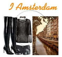 """""""I Amsterdam"""" by x666x999x ❤ liked on Polyvore featuring Yigal AzrouÃ«l, Lipsy, Alexander Wang and Funtasma"""