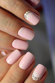 Perfect Pink And White Nails For Brides ❤ See more: http://www.weddingforward.com/pink-and-white-nails/ #weddingforward #bride #bridal #wedding #weddingnailsforbrides #SummerNails #pinkandwhitenails