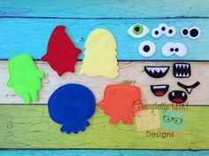 Build a monster game set Embroidery Design - 4x4 Hoop or Larger