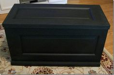 Wow, what a cute idea to make a blanket chest out of cabinet doors. Can't wait to try this.