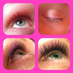 Before & After Colored Eyelash Extensions at Wink Beauty Lounge, Vancouver, BC